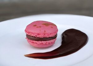 Raspberry-Chocolate with a sprinkle of cocoa powder