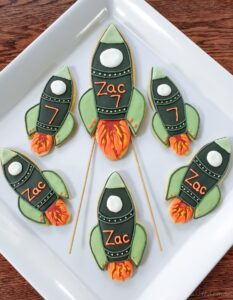 Rockets and Rocket Cookie Cake Topper