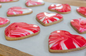 Marble Cookie hearts